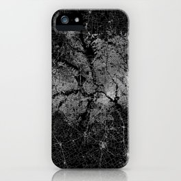 Dallas map Texas iPhone Case