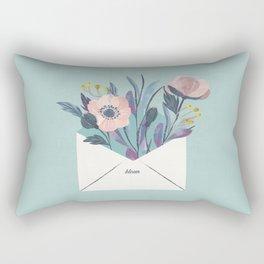 Flowers in an envelope: A watercolor floral throw pillow Rectangular Pillow
