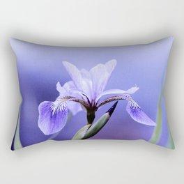 The Blue Flag Iris, full blue bloom Rectangular Pillow