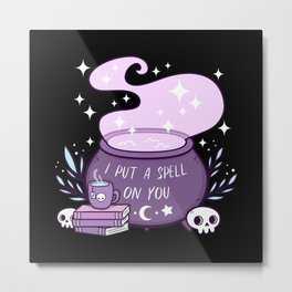 Witch Cauldron Metal Print