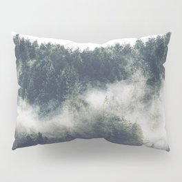 Abstract Forest Fog Pillow Sham