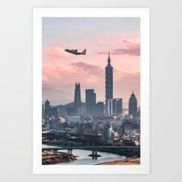 Taipei Takeoff Art Print