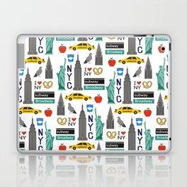 NYC travel pattern fun kids decor boys and girls nursery new york city theme Laptop & iPad Skin