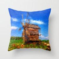 ukraine Throw Pillows featuring My Ukraine ^_^ by Julia Kovtunyak