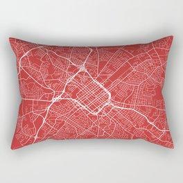 Charlotte Map, USA - Red Rectangular Pillow