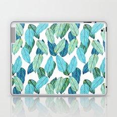 Tropical Leaves in Aqua and blue Laptop & iPad Skin