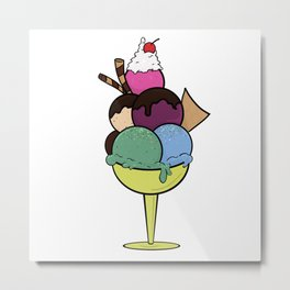 Ice Cream Sundae Metal Print