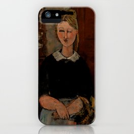 "Amedeo Modigliani ""The Pretty Housewife (La Jolie ménagère)"" iPhone Case"
