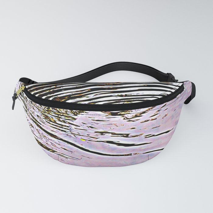 Pink Sky Reflected in Ripples Fanny Pack