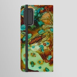flora beginnings Abstract Android Wallet Case