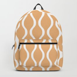 Classic Retro Ogee Pattern 731 Harvest Gold Backpack