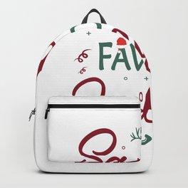 Santas Favorite Judge Christmas Judge. Backpack