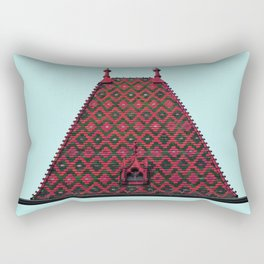 magic roof in Budapest (red) Rectangular Pillow
