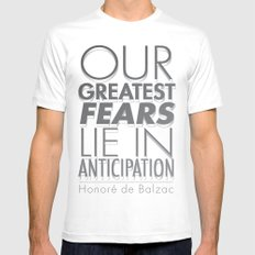 Anticipation White MEDIUM Mens Fitted Tee
