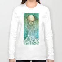 beard Long Sleeve T-shirts featuring Beard by Lee Grace Design and Illustration