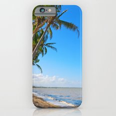 Coconut palms on beach iPhone 6 Slim Case