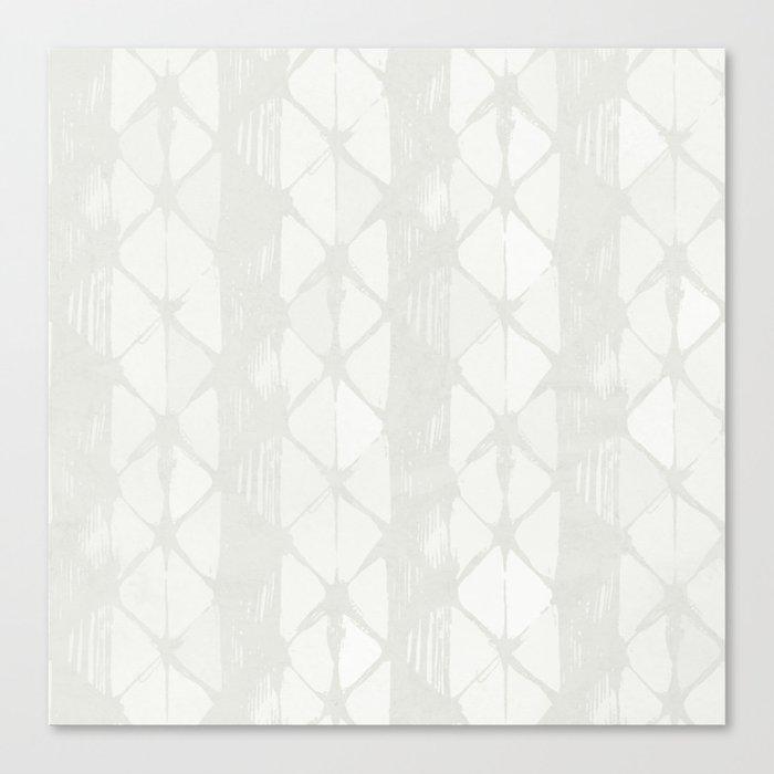 Simply Braided Chevron Lunar Gray Canvas Print