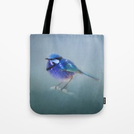 Blue Fairy Wren Tote Bag