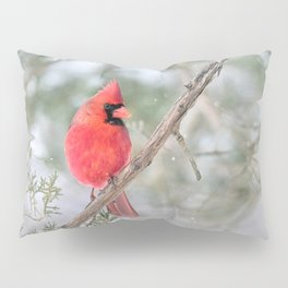 Winter's End Cardinal Pillow Sham