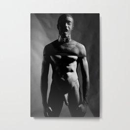 A Naked man dressed up kinky Metal Print