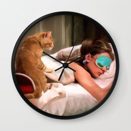 Audrey Hepburn #4 @ Breakfast at Tiffany's Wall Clock
