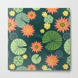 Lily pad pond Metal Print