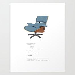 Eames Lounge Chair Art Print