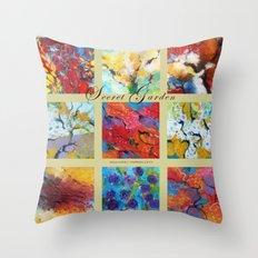 Secret garden composition Throw Pillow