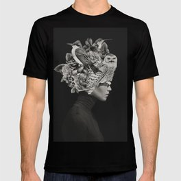 Lady with Birds(portrait) T-shirt