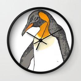 Sorrowing Penguin Wall Clock