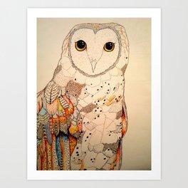 Golden Owl  Art Print