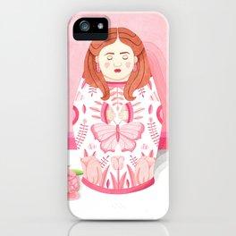 Pink matrioska iPhone Case