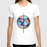 compass T-shirts featuring Compass by DebS Digs Photo Art