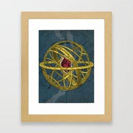 Heartcentrical sistem Framed Art Print