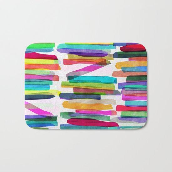 Colorful Stripes 5 Bath Mat