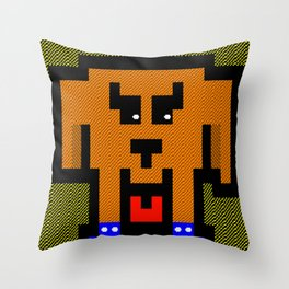 It's a hard dog life Throw Pillow