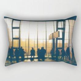 People Silhouettes Rectangular Pillow