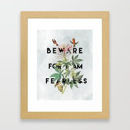 And Therefore Powerful Framed Art Print