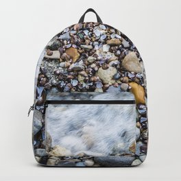 Photorealism Paint Beach Lago di Garda Italy I Backpack