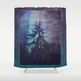 luminous forest Shower Curtain