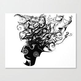 Bass Head Canvas Print
