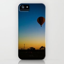 Blue, yellow and balloon  iPhone Case