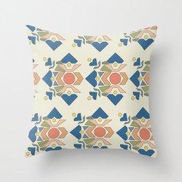 Hearts Geometric, Soft Palette Throw Pillow
