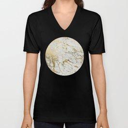 Gold marble Unisex V-Neck