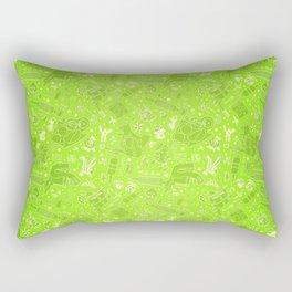 Tattoo Pattern Lime Rectangular Pillow