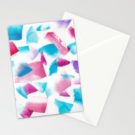 180719 Koh-I-Noor Watercolour Abstract 33| Watercolor Brush Strokes Stationery Cards