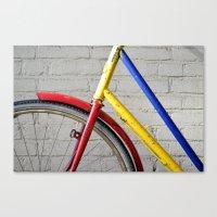 bike Canvas Prints featuring Bike by Marieken