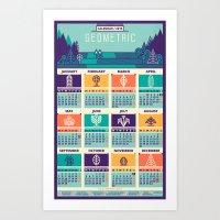 calendar 2015 Art Prints featuring Calendar / 2015 by Adline / Szende Brassai