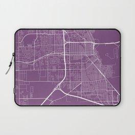 Beaumont Map, USA - Purple Laptop Sleeve