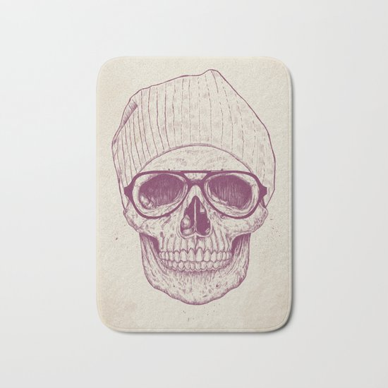 Cool skull Bath Mat